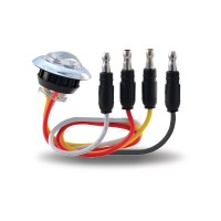 "Red Stop, Turn & Tail to White Back Up 3/4"" Round LED Light (2 Diodes)"