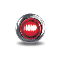 Red Stop, Turn & Tail to White Back-Up Mini Button LED Light (2 Diodes)