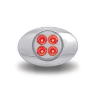 """Red Marker to Green Auxiliary LED """"M3 Style"""" Light (4 Diodes)"""