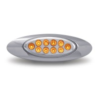 """Amber Marker to Green Auxiliary LED """"M1 Style"""" Light (10 Diodes)"""