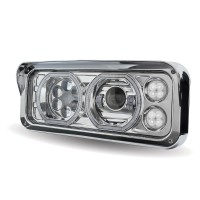Chrome Universal LED Projector Headlight Assembly (Driver Side)
