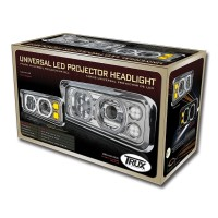 Universal LED Projector Headlight Assembly (Chrome | Driver Side)