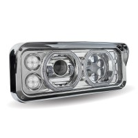 Chrome Universal LED Projector Headlight Assembly (Passenger Side)