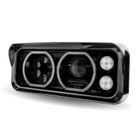 Universal LED Projector Headlight Assembly (Black | Driver Side)