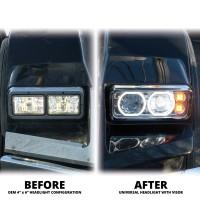 Universal LED Projector Headlight Assembly (Black | Passenger Side)