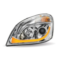 FTL. Cascadia Chrome LED Projector Headlight Assembly (Driver Side)