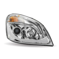 FTL. Cascadia Chrome LED Projector Headlight Assembly (Passenger Side)