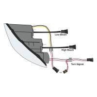 FTL. Cascadia Chrome LED Projector Headlight Assembly (Passenger Side)