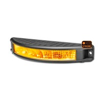 "7"" Half Moon Surface Mount LED Work Lamp with Amber Strobe (Flood Beam 