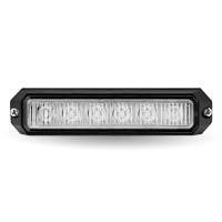 """Class 1 Directional 6 LED Surface Mount Amber Strobe Light with """"L"""" Bracket (36 Flash Patterns)"""
