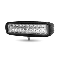 "6"" 'Strobe Series' Spot LED Work Lamp with Red Strobe (1400 Lumens)"