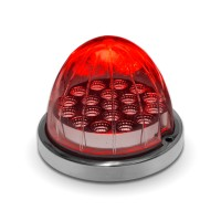 Dual Revolution Red Turn Signal & Marker to Green Auxiliary Watermelon LED Light (19 Diodes)