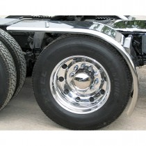 """80"""" Rollin'Lo Long Half Fender with Rolled Edge (16 Ga.) - For 43"""" or 46.5"""" Tires"""