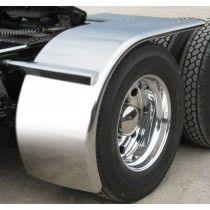 """80"""" Rollin'Lo Long Half Fender with Rolled Edge (16 Ga.) - For 41"""" Tires"""