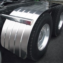 "80"" 4 Ribbed Standard Half Fenders with Beaded Edge (16 Ga. Galvanized)"