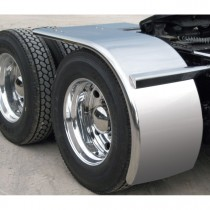 """80"""" Rollin'Lo Long Half Fender with Rolled Edge (14 Ga.) - For 43"""" or 46.5"""" Tires"""