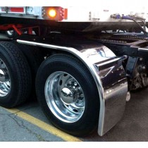 """80"""" Straight Drop Half Fender with Rolled Edge (14 Ga.) - For 43 or 46.5"""" Tires"""