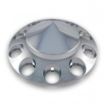 Chrome ABS Plastic Front Pointed Axle Cover w/ Removable Hubcap