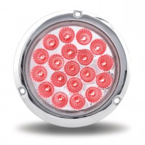 """4"""" Red Stop, Turn & Tail to Green Auxiliary LED Light with Flange Mount (19 Diodes)"""