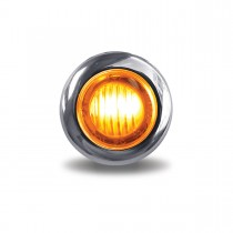 "Amber Marker to Red Auxiliary 3/4"" Round LED Light (2 Diodes)"
