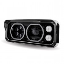 Black LED Projector Headlight Assembly with Housing (Driver Side)