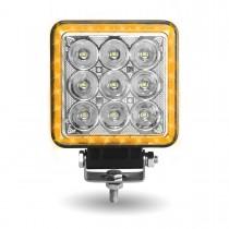 "4.25"" 'Strobe Series' Spot LED Work Lamp with Amber Strobe (3500 Lumens)"