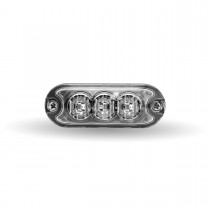"""Class 1 Directional 3 LED Slim Surface Mount Amber Strobe Light with """"L"""" Bracket (36 Flash Patterns)"""