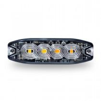 "Split Color Class 1 Directional LED Super Slim Surface Mount Strobe Light with ""L"" Bracket (36 Flash Patterns)"