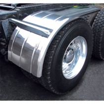 "60"" Standard 3 Ribbed Half Fenders (16 Ga.) with Standard Half Fender Mounting Kit (Adujstable Bracket)"
