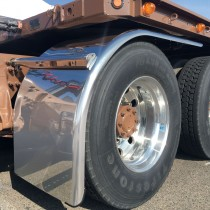 "80"" Heavy Duty Half Fenders with Straight Drop (14 Ga.) with Standard Half Fender Mounting Kit (Adujstable Bracket)"