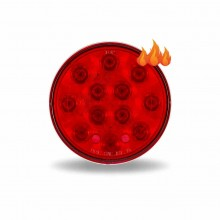 """4"""" Red Stop, Turn & Tail LED Light w/ Heated Lens (12 Diodes)"""